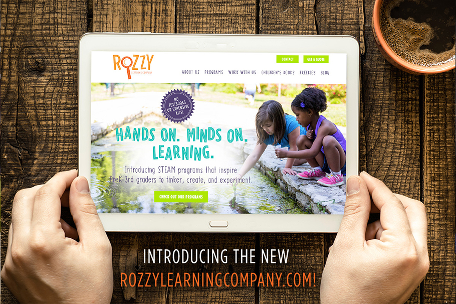 Rozzy Learning Company website design